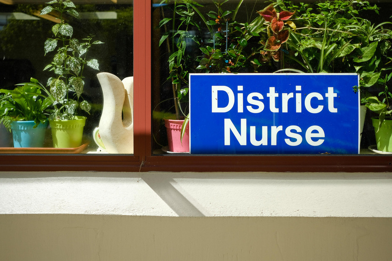 District Nurse sign at Oamaru Hospital